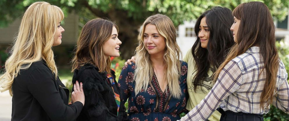 "PHOTO: Seven seasons of secrets come tumbling out in the two-hour series finale of the hit original series ""Pretty Little Liars,"" airing Tuesday, June 27 on ABC."