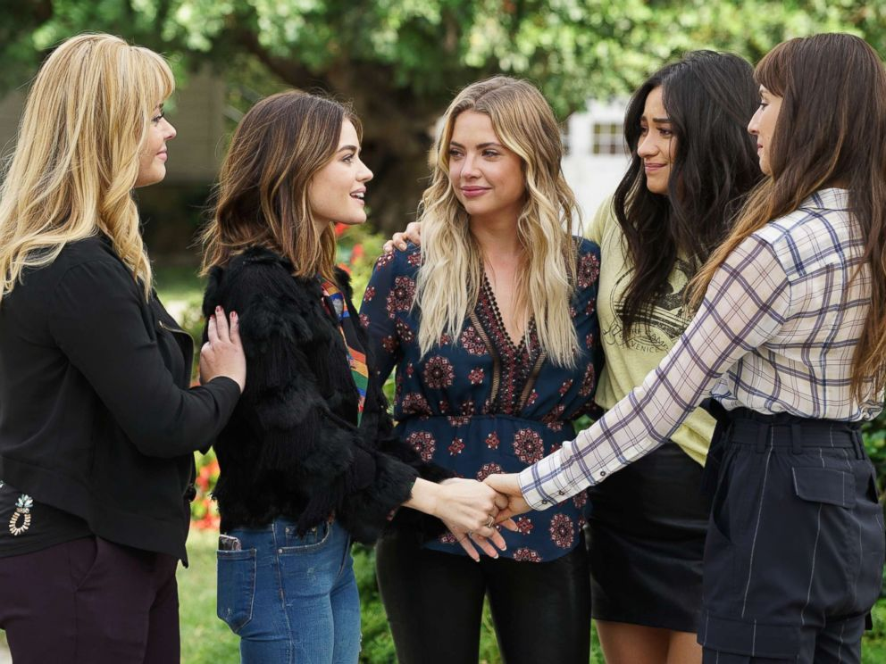 PHOTO: Seven seasons of secrets come tumbling out in the two-hour series finale of the hit original series Pretty Little Liars, airing Tuesday, June 27 on ABC.