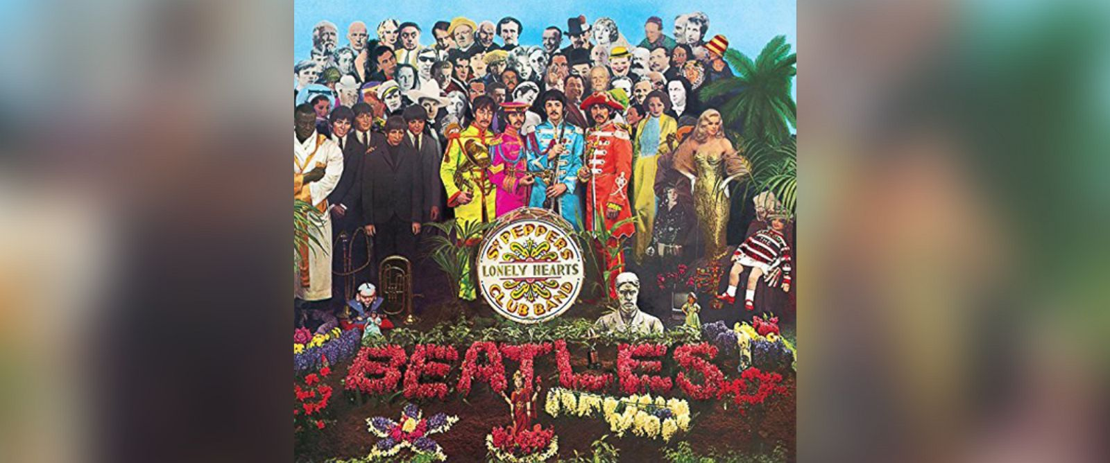 """PHOTO: The album cover from the Beatles, """"Sgt. Peppers Lonely Hearts Club Band."""""""