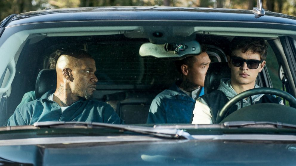PHOTO: Jamie Foxx, left, Ansel Elgort, Lanny Joon and Flea Balzary in TriStar Pictures'