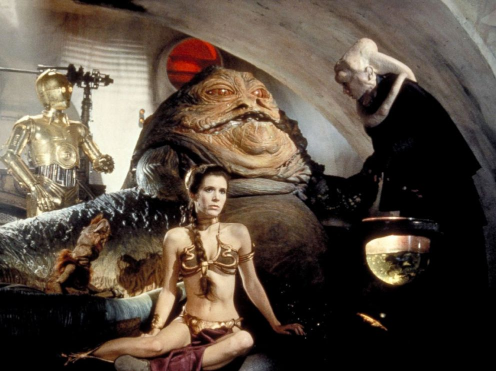 PHOTO: Carrie Fisher, center, as Princess Leia, in a scene from Star