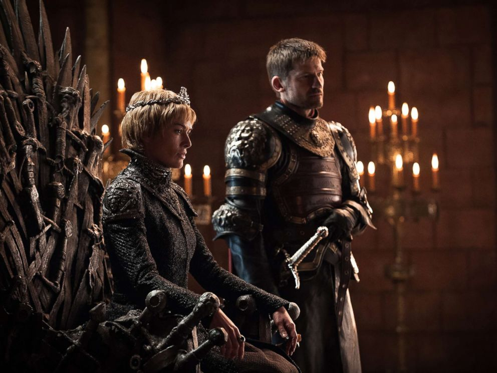 PHOTO: Lena Headey as Cersei Lannister and Nikolaj Coster-Waldau as Jaime Lannister in the Game of Thrones.