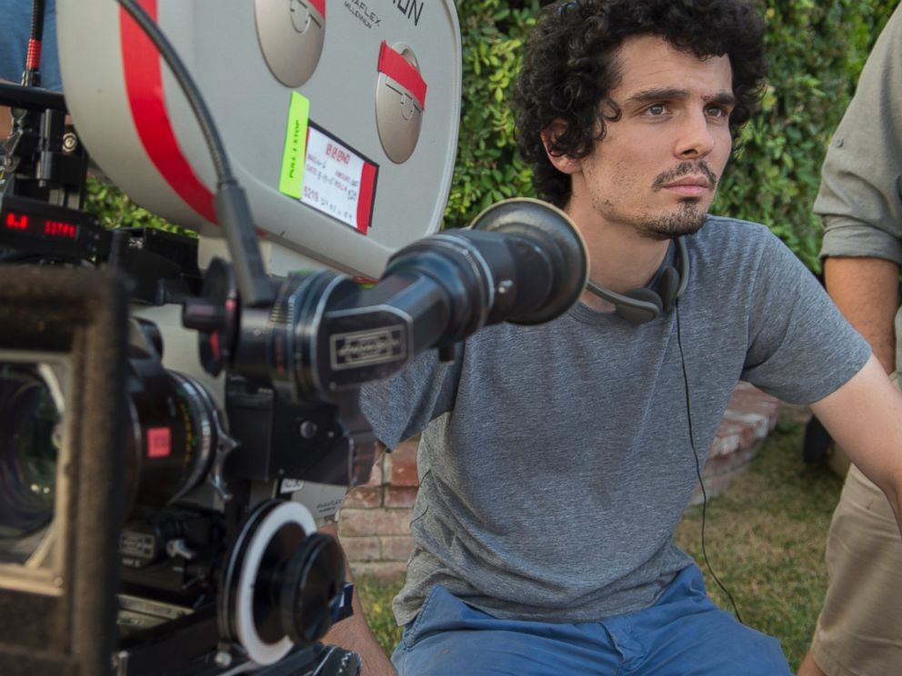 PHOTO: Director Damien Chazelle is seen here on the set of La La land.