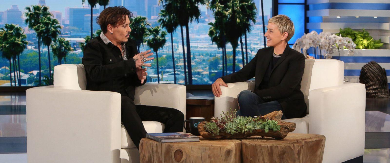"PHOTO: Johnny Depp appears on ""The Ellen DeGeneres Show,"" in Burbank, Calif."