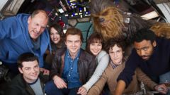 Han Solo film stars get to work on set