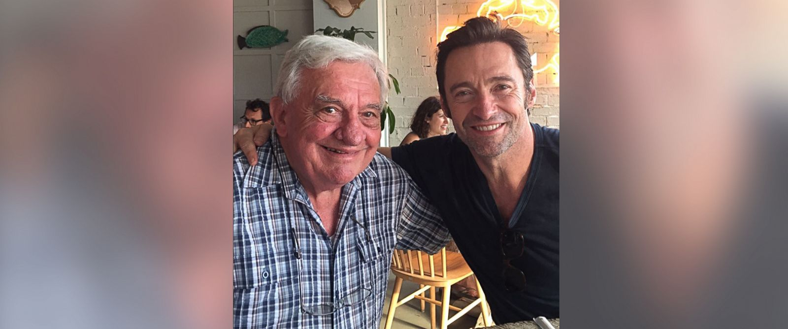 """PHOTO: Hugh Jackman tweeted this photo on June 18, 2017 with the caption, """"Happy Fathers Day to all..."""""""