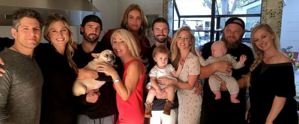 PHOTO: Caitlyn Jenner, center, is pictured with her family in this undated photo she posted to her Instagram account.