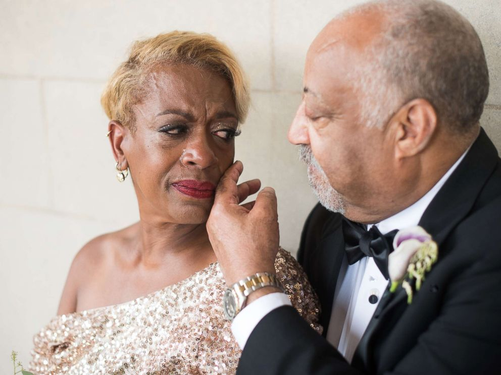 PHOTO: Jennifer and Timothy Bing lost their wedding photos in a fire 38 years ago. Their daughter Ashleigh gifted them a wedding photo shoot for their anniversary.