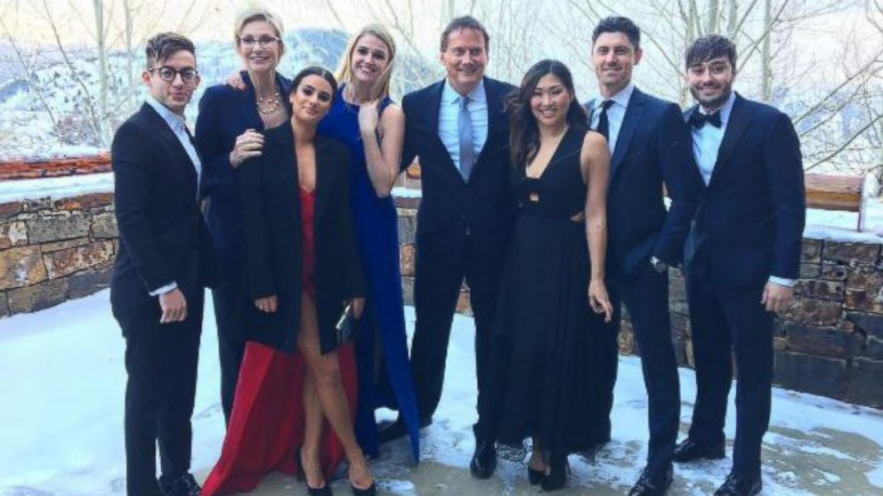 'Glee'-union! The TV cast reunites for Becca Tobin's wedding