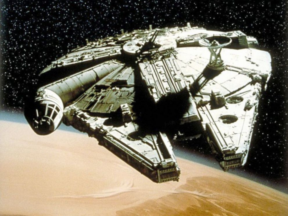 PHOTO: The Millenium Falcon from the film franchise, Star Wars.