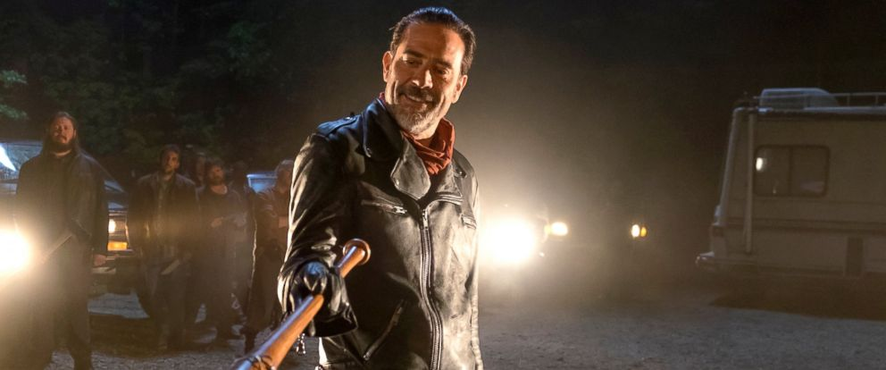 "PHOTO: Jeffrey Dean Morgan as Negan in a scene from ""The Waling Dead."""