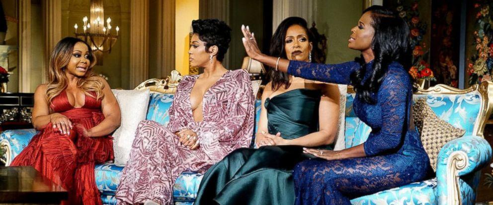 "PHOTO: Phaedra Parks, Porsha Williams, Sheree Whitfield and Shamea Morton appear on ""The Real Housewives of Atlanta"" reunion show."