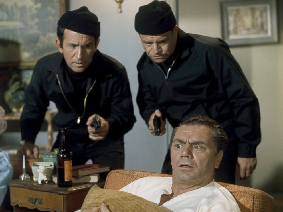 PHOTO: Don Adams, as Maxwell Smart, left, Don Rickles, as Sid Krimm, and Ernest Borgnine, as TV Viewer, in a scene from Get Smart.