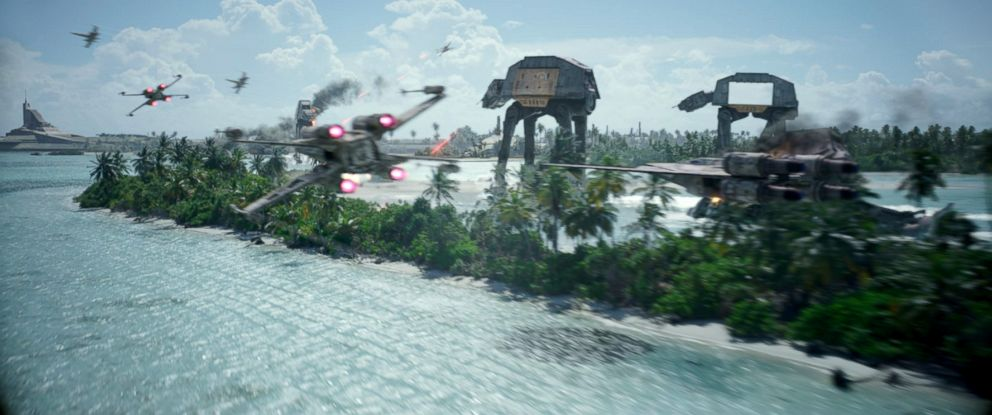 "PHOTO: Scene from the movie ""Rogue One: A Star Wars Story."""