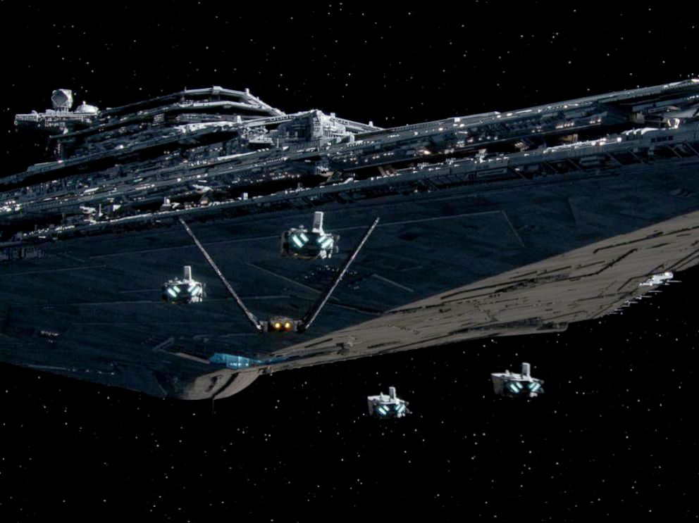PHOTO: A Star Destroyer from the film franchise, Star Wars.