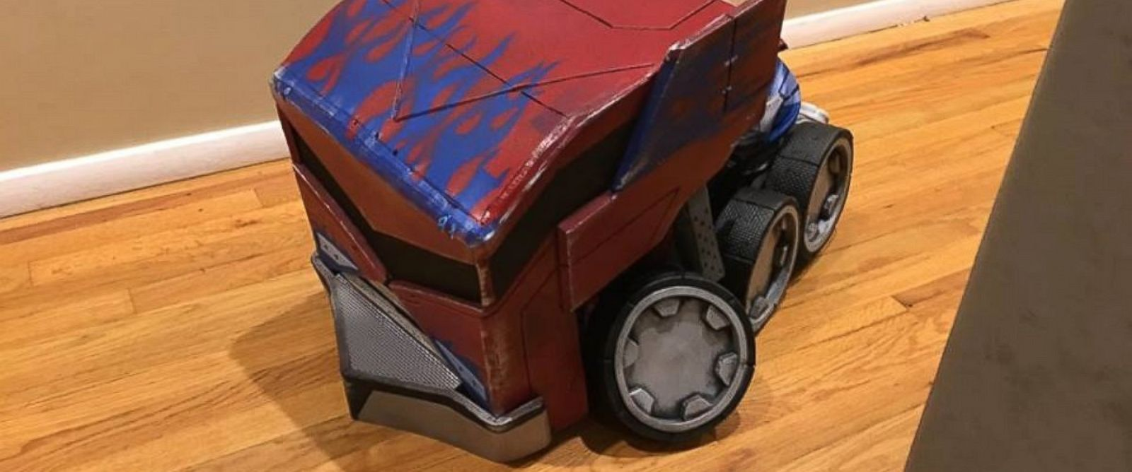 how to build a transforming optimus prime costume