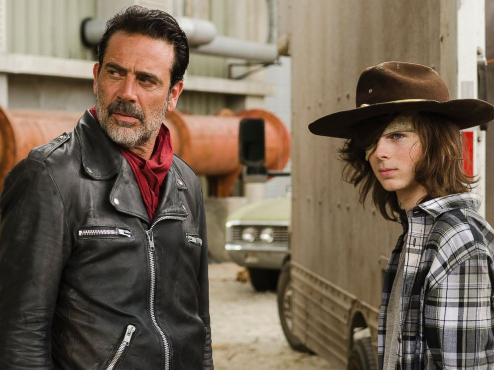 PHOTO: Jeffrey Dean Morgan and Chandler Riggs are seen here in The Walking Dead.