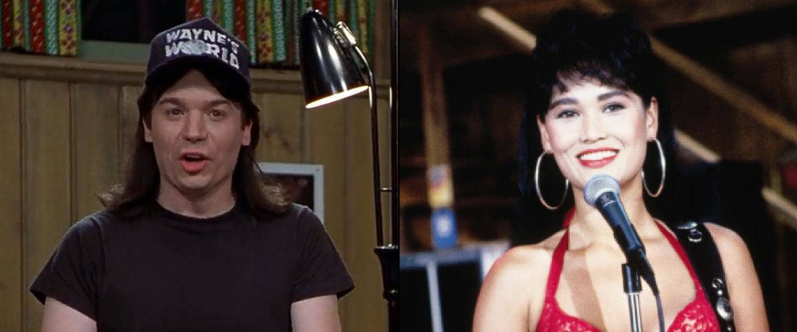 "PHOTO: Mike Myers and Tia Carrere are seen here in ""Waynes World."""