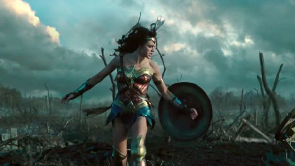 PHOTO: Gal Gadot as Wonder Woman in a scene from the first theatrical trailer for