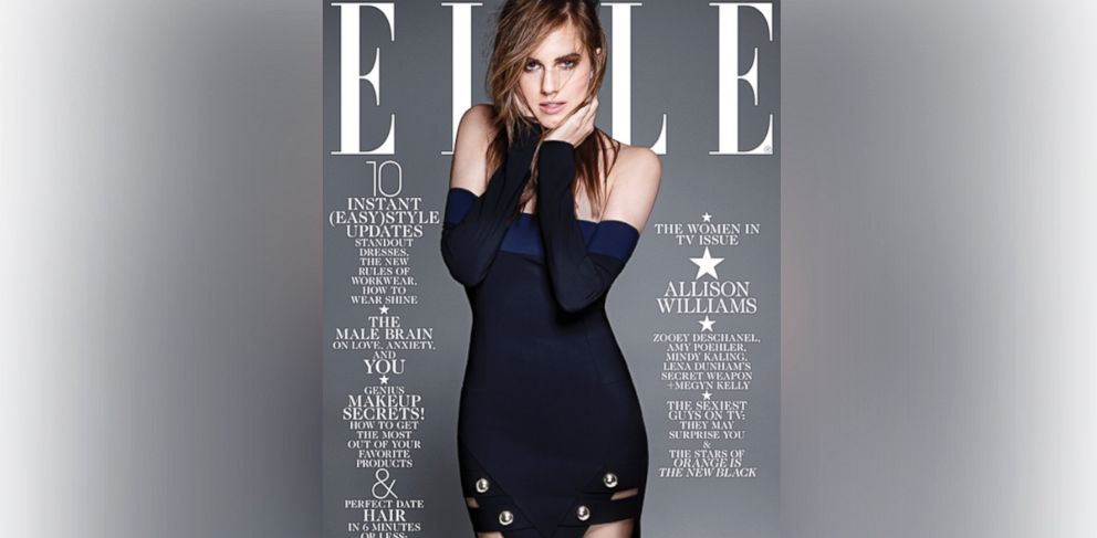 PHOTO: Allison Williams appears on the February 2014 Elle Cover.
