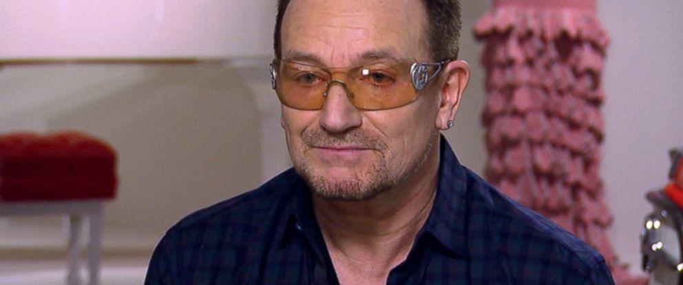 """U2 lead singer Bono appears on ABCs """"This Week"""" in December 2013."""