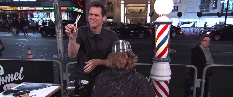 Jim Carrey Gave a Stranger a Bowl Haircut on 'Jimmy Kimmel Live ...