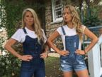 Christie Brinkley and Her Daughter Wear Matching Overalls
