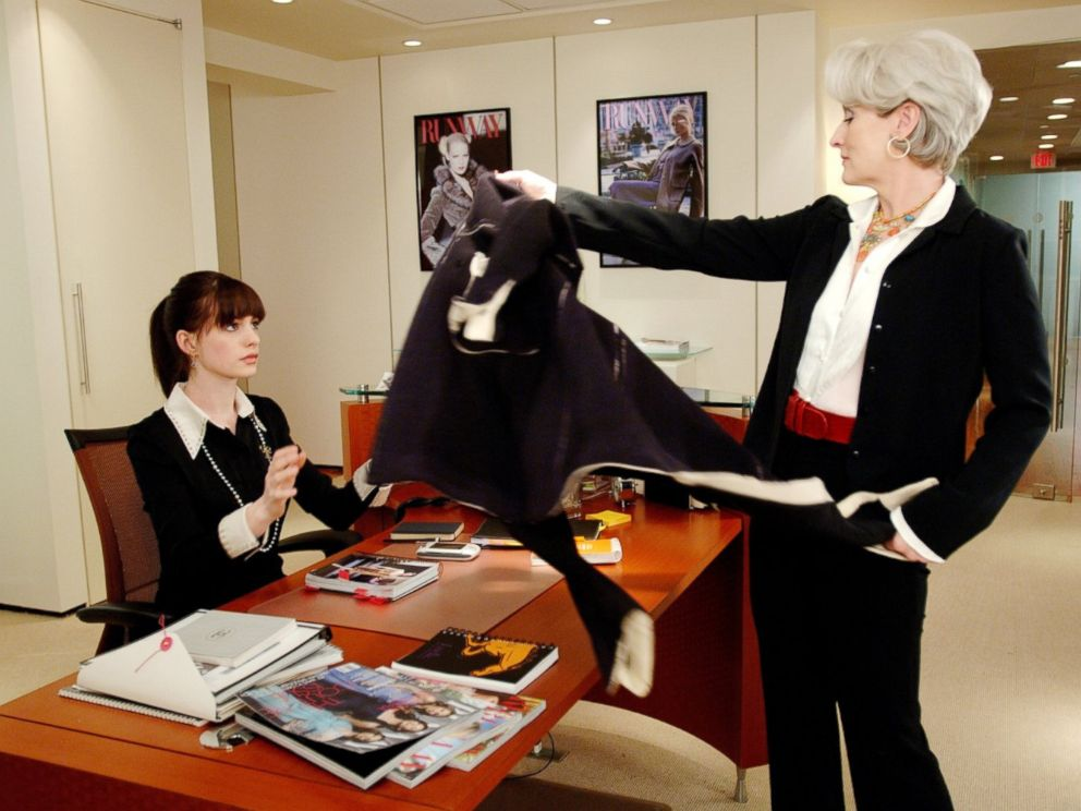 PHOTO: Meryl Streep and Anne Hathaway appear in a scene from The Devil Wears Prada.