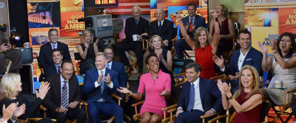 "PHOTO: ""Good Morning America"" celebrates its 40th anniversary with an epic family reunion of anchors and contributors from the past and present in Times Square."