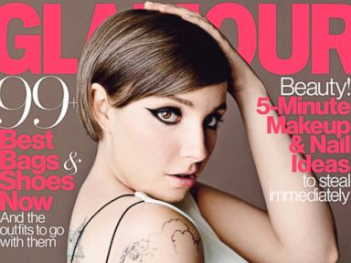 PHOTO: Lena Dunham appears on the cover of the April 2014 issue of Glamour.