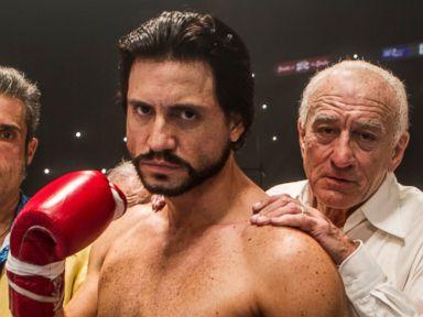 PHOTO: E?dgar Ramarez and Robert De Niro star in Hands of Stone.