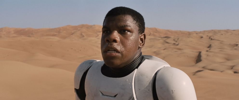 "PHOTO: John Boyega as Finn in a scene from ""Star Wars: The Force Awakens."""