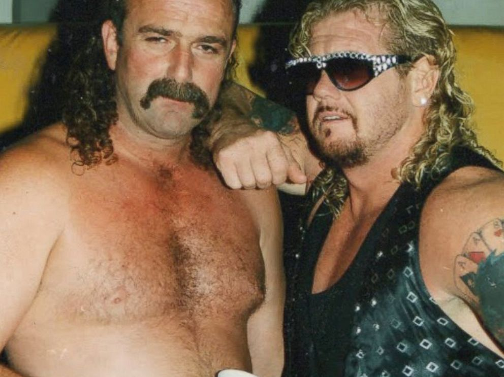 PHOTO: Jake the snake Roberts and Diamond Dallas Page are seen in this 1993 file photo.