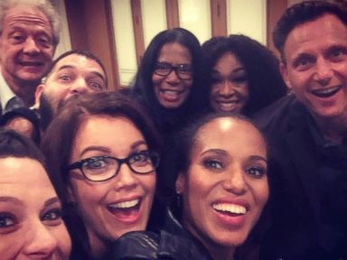 Photos:  Kerry Washington Takes a Selfie With Cast of 'Scandal'