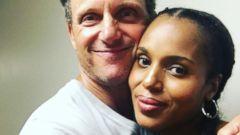 Kerry Washington Snaps a Selfie With Her Scandal Costar Tony Goldwyn