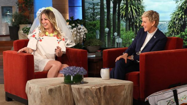 HT Kaley Cuoco Ellen nt 131107 16x9 608 Watch Kaley Cuoco Get Married (on Ellen)