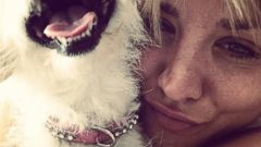 Kaley Cuoco Snuggles Up With Her Adorable Puppy