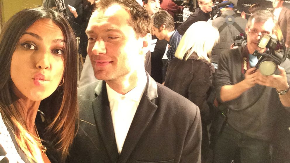 """PHOTO: """"Jude and I having a selfie moment on the red carpet!"""""""