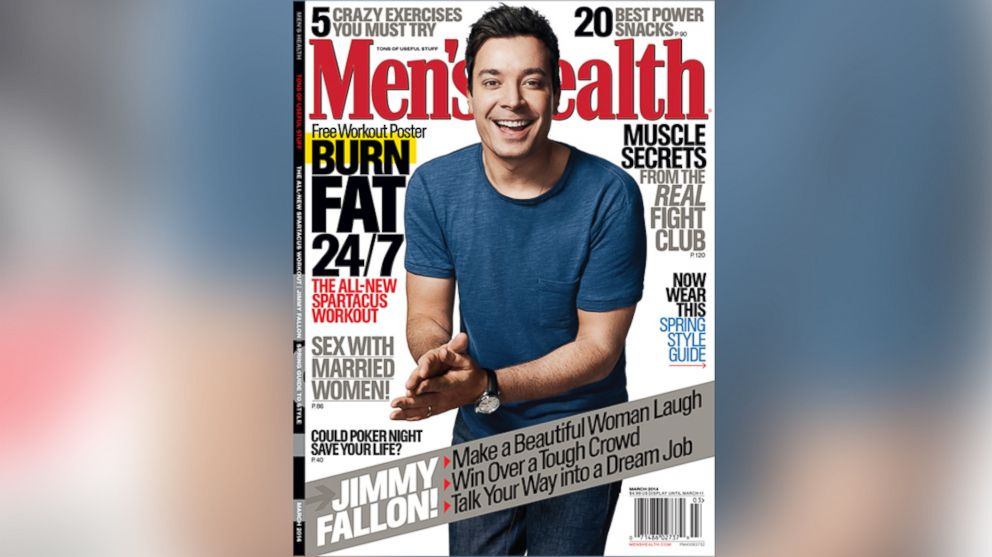 PHOTO: Jimmy Fallon appears on the March 2014 cover of Mens Health.