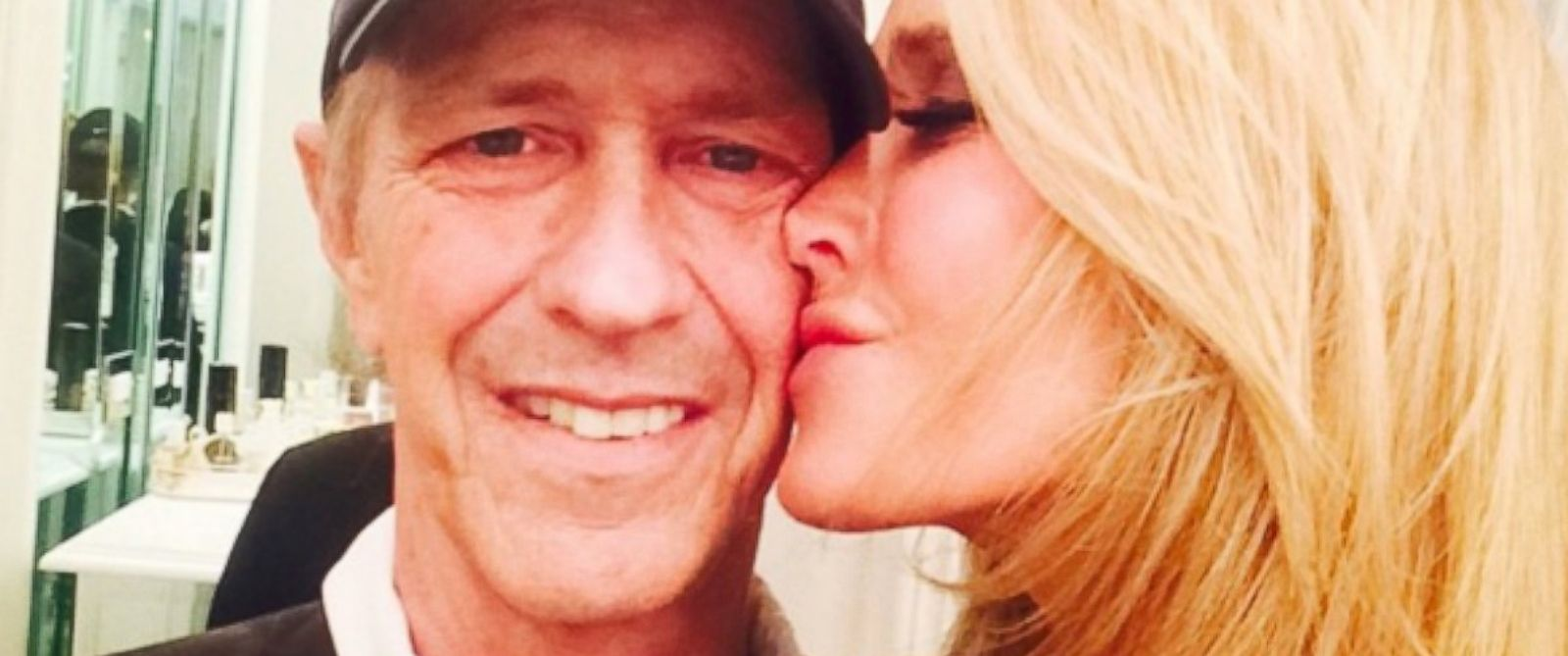 "PHOTO: Monty Brinson and Kim Richards in a photo posted to her Instagram with the caption, ""Me & My Monty.......#iloveyou."""