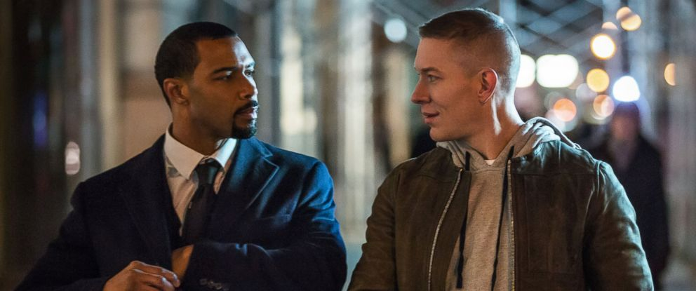 """PHOTO: A still image from the Starz series """"Power"""", pictured; Jamie Ghost St. Patrick (Omari Hardwick) and Tommy Egan (Joseph Sikora)."""