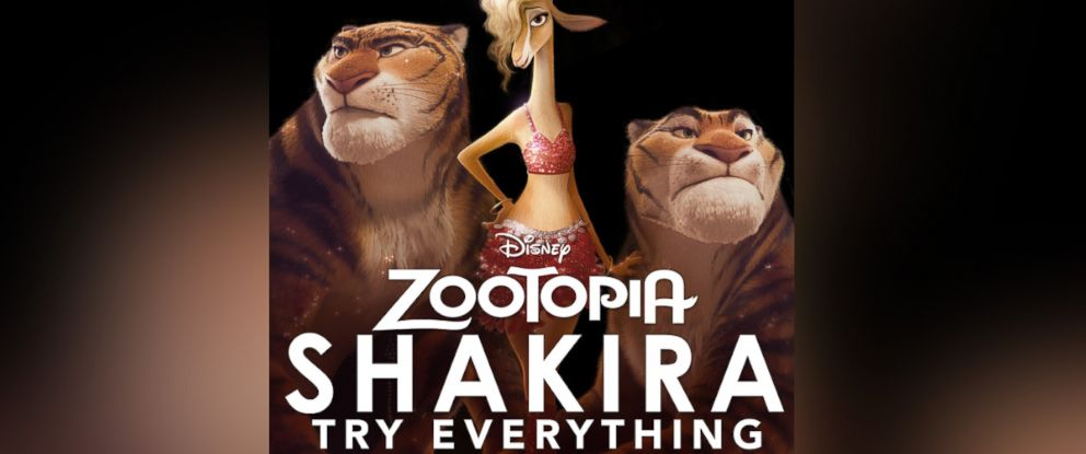 "PHOTO: Shakiras new song ""Try Everything"" is featured on the ""Zootopia"" soundtrack."