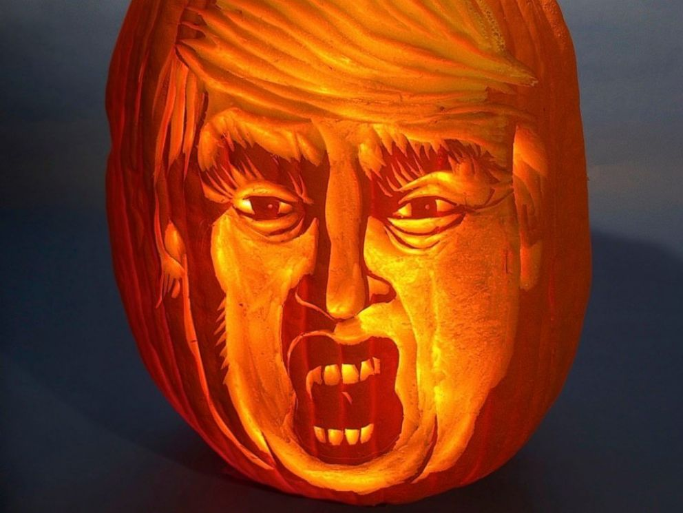 PHOTO New York-based artist Hugh McMahon is known for his elaborate pumpkin carvings & Pumpkin Carvings Get Political With u0027Trumpkinsu0027 and u0027Howl-ary ... azcodes.com
