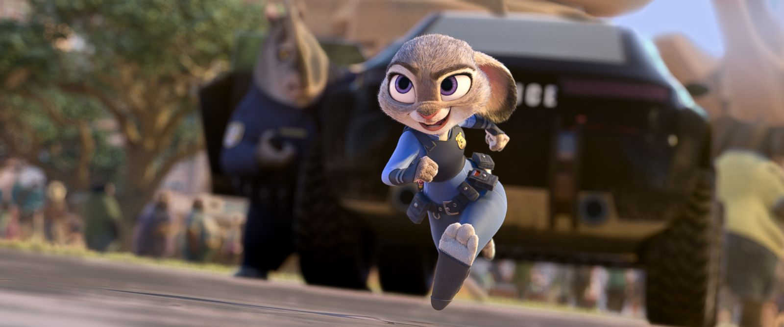 "PHOTO: In Disneys new film ""Zootopia,"" Judy Hopps, voiced by Ginnifer Goodwin, believes anyone can be anything. Being the first bunny on a police force of big, tough animals isnt easy, but Hopps is determined to prove herself."