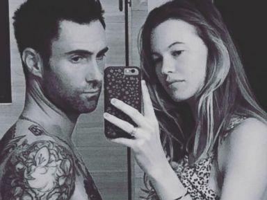 Photos:  Adam Levine and His Pregnant Wife Behati Prinsloo Take a Selfie