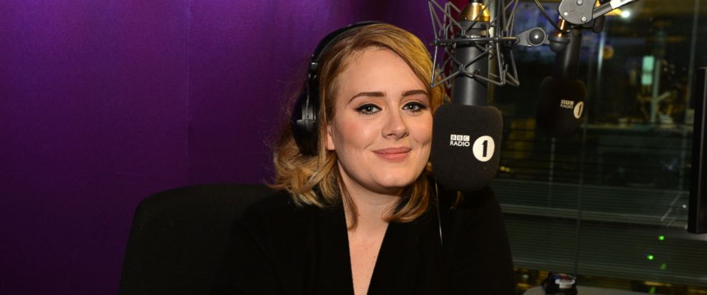 "PHOTO: Adele is seen on ""The BBC Radio 1 Breakfast Show with Nick Grimshaw."" The show broadcasted the world premiere of her new single, ""Hello"" Oct. 23, 2015."