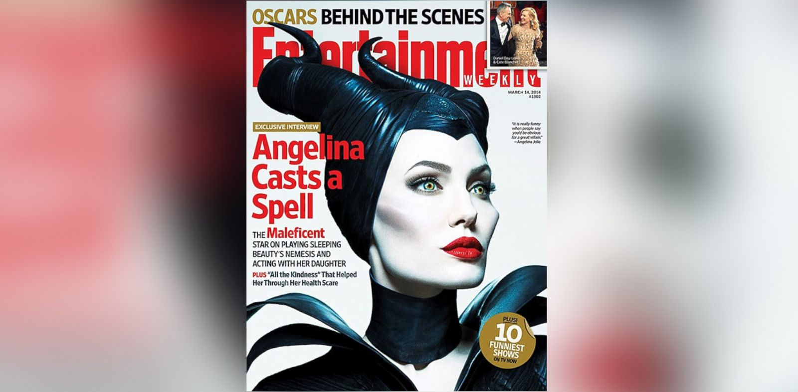 PHOTO: Angelina Jolie, on the cover of the March 14, 2014 issue of Entertainment Weekly.