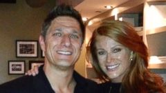 PHOTO: Angie Everhart poses with Carl Ferro after their engagement.