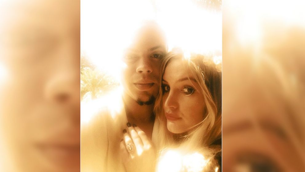 PHOTO: Newly engaged Evan Ross and Ashlee Simpson are seen in this photo tweeted by Ross, Jan. 13, 2014.