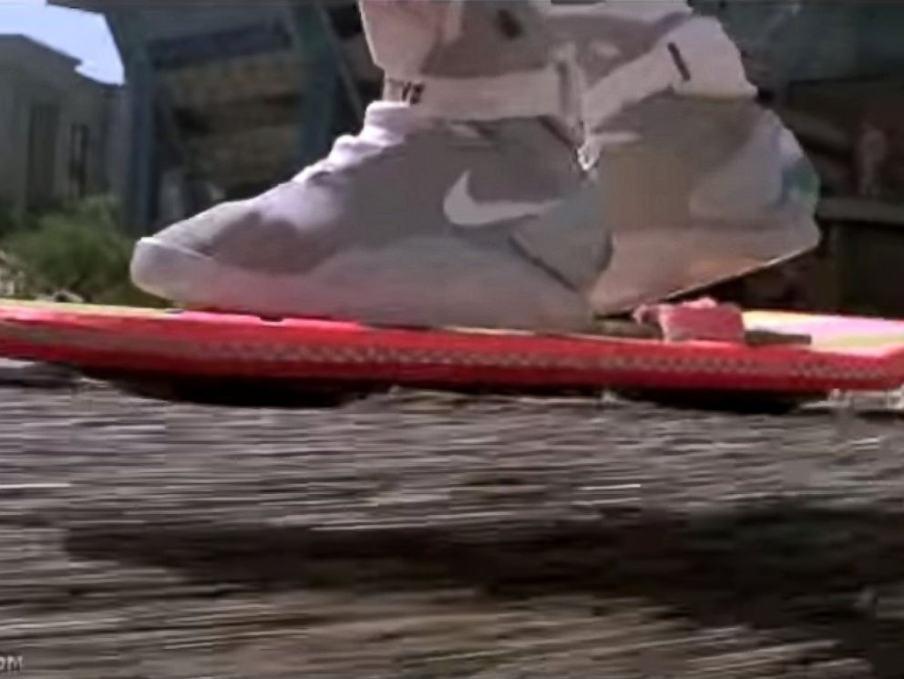 PHOTO: Michael J. Fox as Marty McFly rides a hoverboard in Back to the Future II.